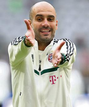 Guardiola: First Bayern session
