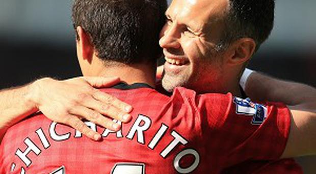 Ryan Giggs, right, is about to begin his 24th season at Manchester United