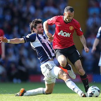 Ryan Giggs, right, has won 13 Premier League titles with Manchester United