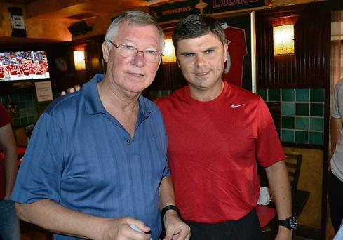 Kevin Grogan with former Manchester United boss Alex Ferguson