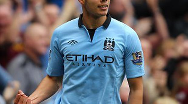 Jack Rodwell, pictured, says Manuel Pellegrini likes his City players to press high up the field