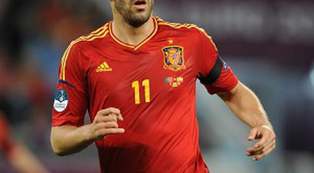 Alvaro Negredo has completed his move to Manchester City