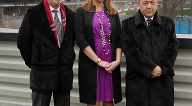 David Sullivan, right, has increased his stake in West Ham