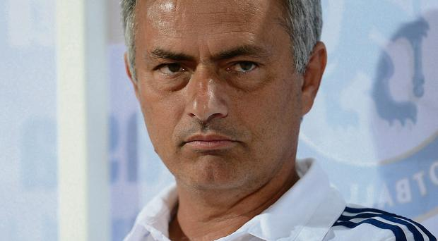 Jose Mourinho in pensive mood as he shares his thoughts with the media