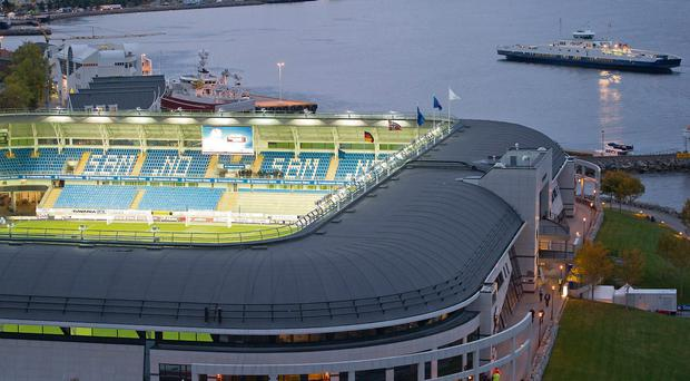 A general view of Molde's picturesque stadium where Sligo will hope to enjoy a famous European night tonight