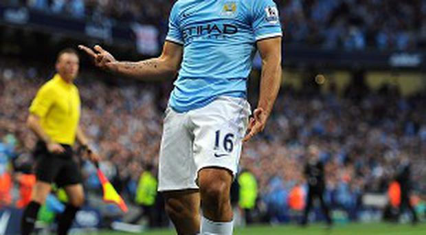 Sergio Aguero scored Manchester City's second goal in their comfortable victory over Newcastle