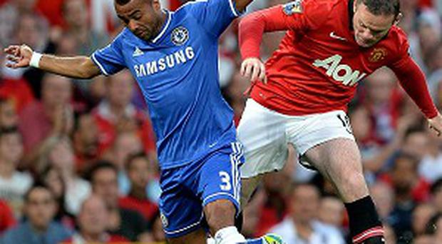 Wayne Rooney, right, impressed in his first start for United this season