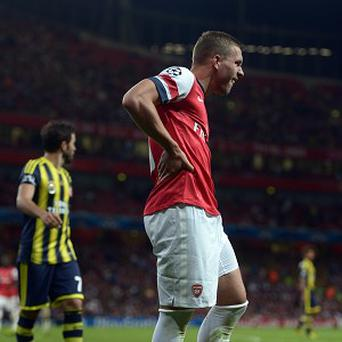 Lukas Podolski has a hamstring problem