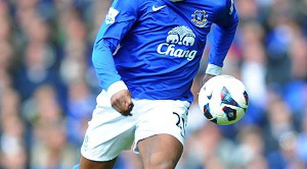 Victor Anichebe scored his first Premier League goal against West Brom