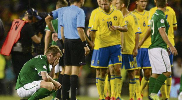 Glenn Whelan sums up the disappointment after the defeat against Sweden