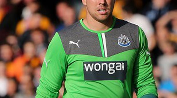Rob Elliot, pictured, hopes to oust Tim Krul as Newcastle's number one