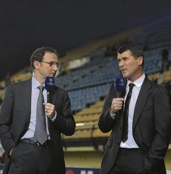 Martin O'Neill and Roy Keane have worked together as TV commentators - Keane has backed the Derry man for the Irish job