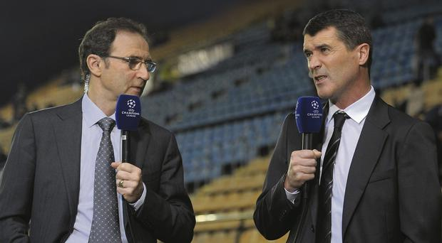 Martin O'Neill and Roy Keane have worked together as TV commentators but it is the former Celtic boss who the FAI want to take over as manager