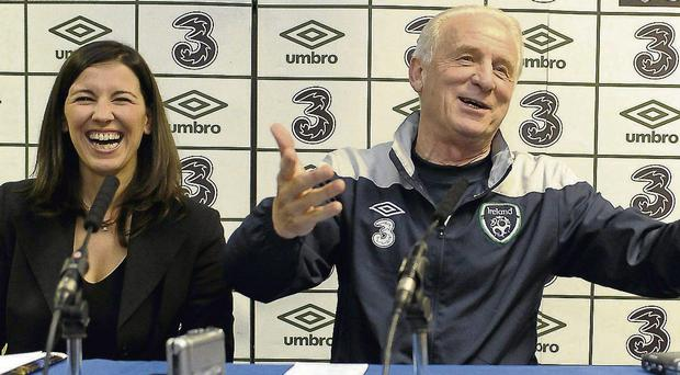 Press conferences were rarely dull with Giovanni Trapattoni and his translator Manuela Spinelli