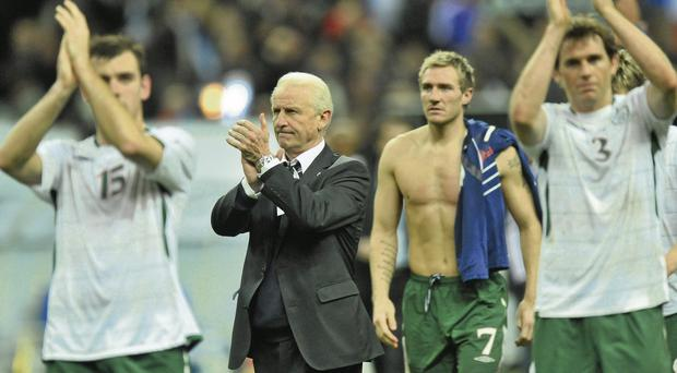 Trapattoni was asked to recall his greatest victories. 'One victory I still regret is the defeat in Paris,' he said Photo: David Maher