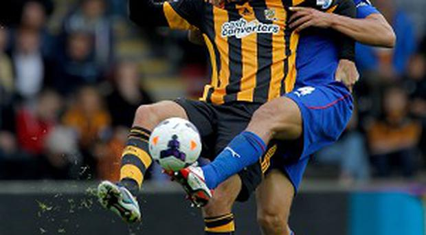 Danny Graham, left, endured another frustrating afternoon against Cardiff