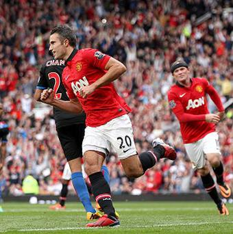 Robin van Persie scored in Manchester United's victory over Crystal Palace on Saturday