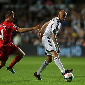 Michael Laudrup was pleased with the character shown by Jonjo Shelvey, right