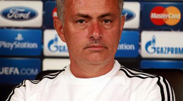 Jose Mourinho, pictured, would not discuss Andre Villas-Boas