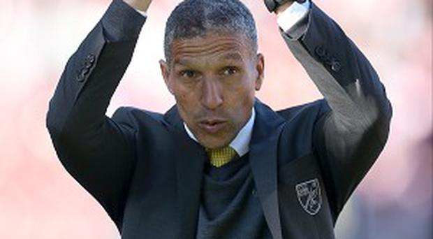 Chris Hughton was delighted with Norwich's 1-0 win over Stoke
