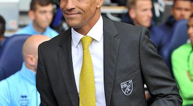 Chris Hughton guided Norwich to a much-needed win at Stoke on Sunday