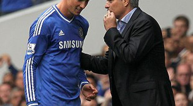 Fernado Torres, left, was sent off against Tottenham after repeatedly clashing with Jan Vertonghen