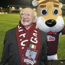 Higgins has always been a staunch Galway United supporter