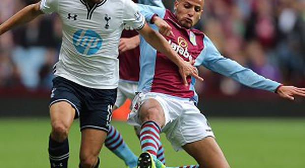 Andros Townsend, left, produced a man-of-the-match display against Villa