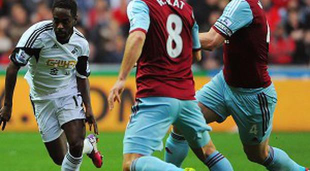 Swansea and West Ham's match ended goalless