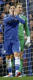 Chelsea's Fernando Torres reacts after a missed opportunity