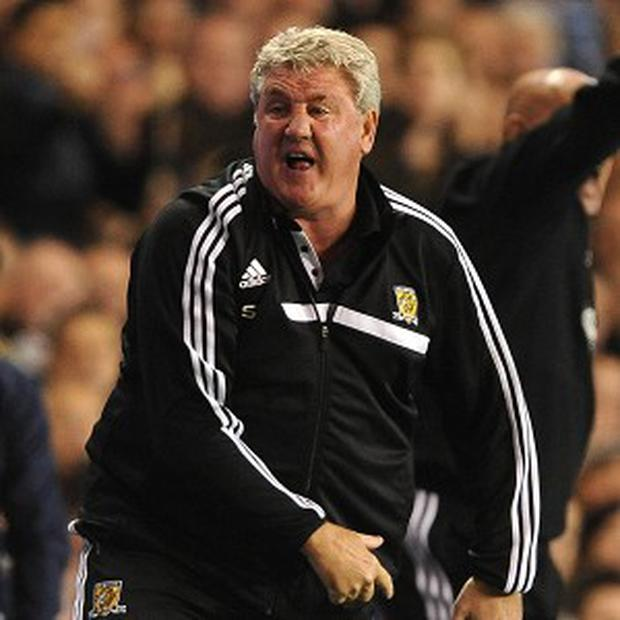 Steve Bruce, pictured, felt referee Michael Oliver was wrong to award Tottenham a penalty