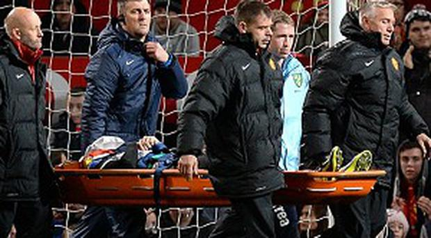 Robert Snodgrass was stretchered off at Old Trafford on Tuesday night
