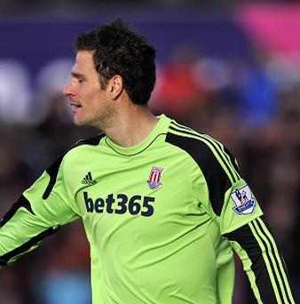 Asmir Begovic, right, is Stoke's joint-top scorer