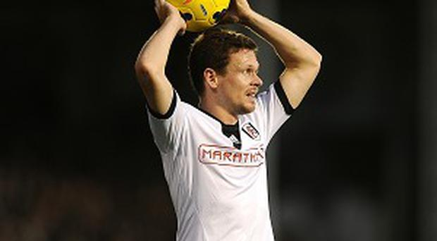 Sascha Riether, pictured, appeared to stamp on Adnan Januzaj in Fulham's defeat against Manchester United on Saturday
