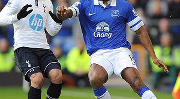 Sylvain Distin, right, believes the goalless draw with Spurs was a 'fair result'