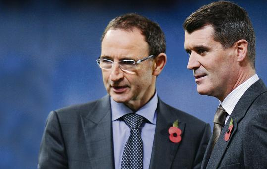 Martin O'Neill and Roy Keane in Spain last night