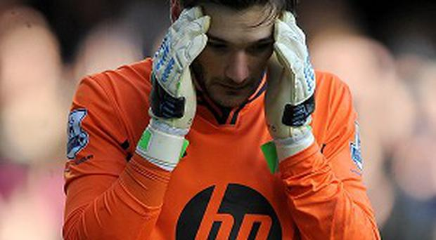 Hugo Lloris was knocked out against Everton at the weekend