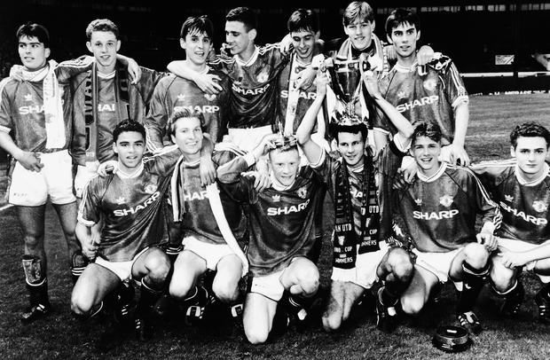 The 1992 Manchester United FA Youth Cup winning team