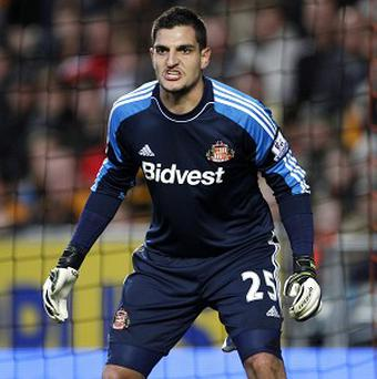 Vito Mannone helped the Black Cats progress to the last eight of the Capital One Cup