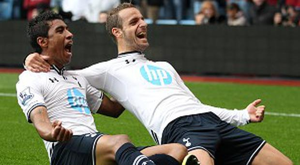 Roberto Soldado, right, has converted three penalties in the league for Tottenham this season