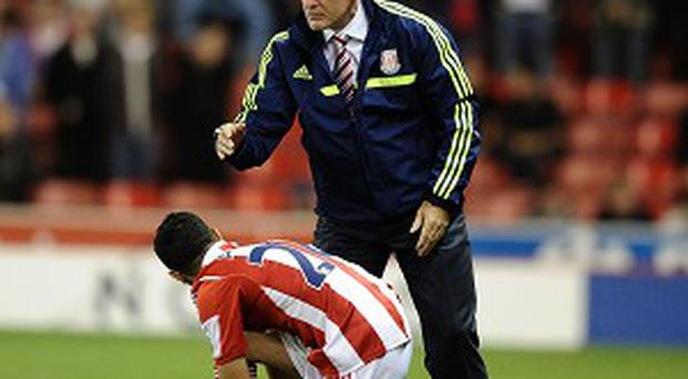 Mark Hughes' Stoke take on Swansea on Sunday