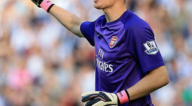 Wojciech Szczesny suffered a clash of heads with Phil Jones