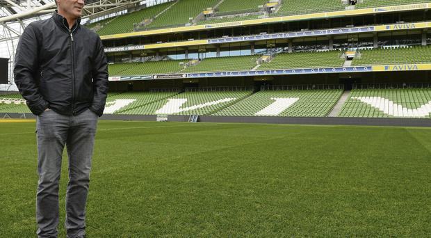 Ireland assistant manager Roy Keane on a tour of the Aviva Stadium yesterday DAVID MAHER/SPORTSFILE