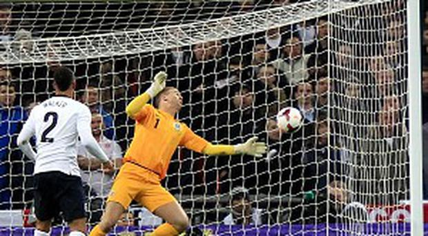 Joe Hart made some good saves against Germany