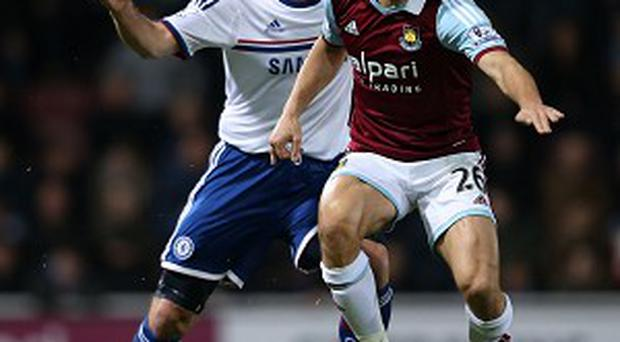 Frank Lampard, left, inspired Chelsea to a 3-0 win over former club West Ham