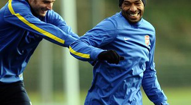 Thierry Henry (right), will not sign for Arsenal for a third time, according to boss Arsene Wenger