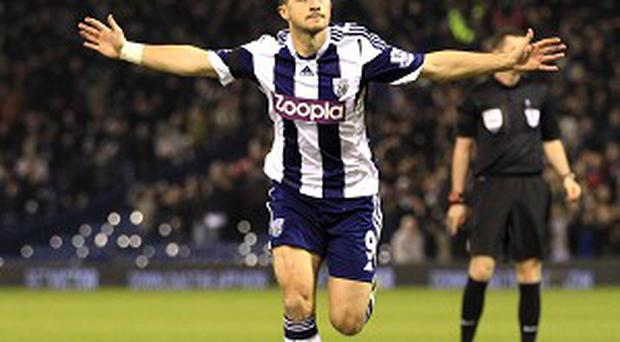 Shane Long netted twice for West Brom against Aston Villa