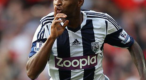 Saido Berahino has scored six goals this season for West Brom