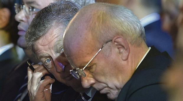 Roy Hodgson and Greg Dyke at the World Cup draw yesterday