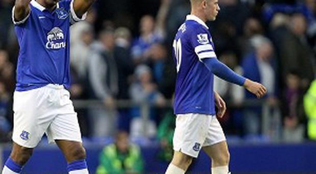 Sylvain Distin, left, and Ross Barkley, right, have both impressed for Everton this season
